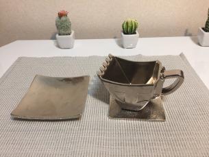 油圧ショベルバケットカップ「白金(プラチナ)」 ※限定300個
