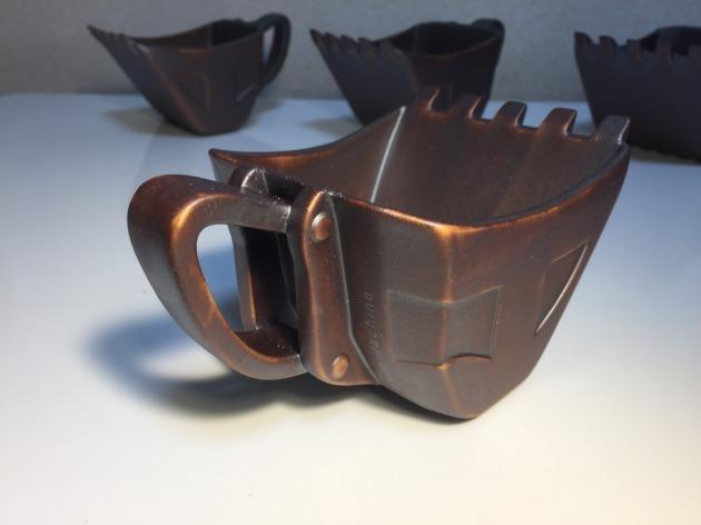 油圧ショベルバケットカップ「鉄さび」※再販品