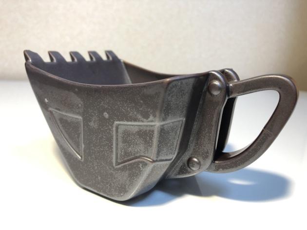 油圧ショベルバケットカップ「鉄」