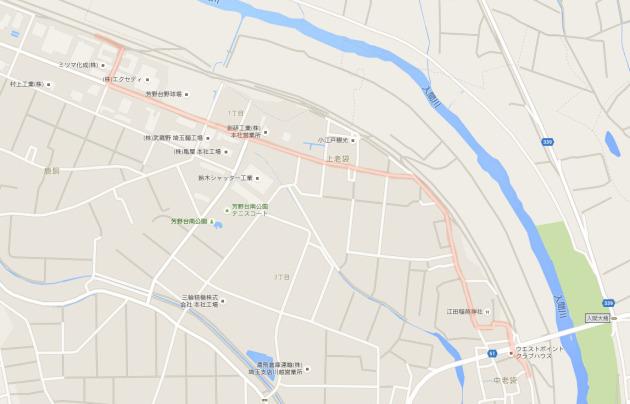 入間川サイクリングロードの迂回路はここ!