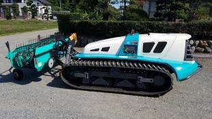 クボタ製 リモコン式草刈りハンマーナイフモア(刈幅1855mm) AMX7 + 集草機 セット
